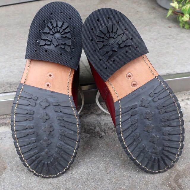 [ブヒシューズ] カスタム/Dr.martens/ドクターマーチン/UK6 (約24.5cm)/ボルドー/革靴/ワークブーツ/8ホール/カスタムブーツ_画像8