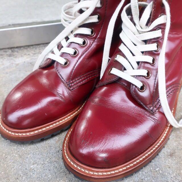 [ブヒシューズ] カスタム/Dr.martens/ドクターマーチン/UK6 (約24.5cm)/ボルドー/革靴/ワークブーツ/8ホール/カスタムブーツ_画像7