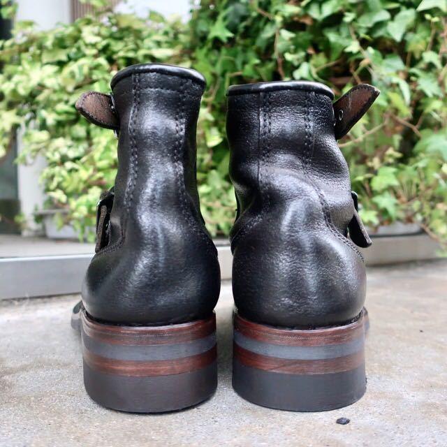 [ブヒシューズ] カスタム/80' フランス軍/2バックルブーツ/約25.5cm/黒/革靴/ミリタリー/ミリタリーブーツ/ビンテージ/カスタムブーツ_画像5