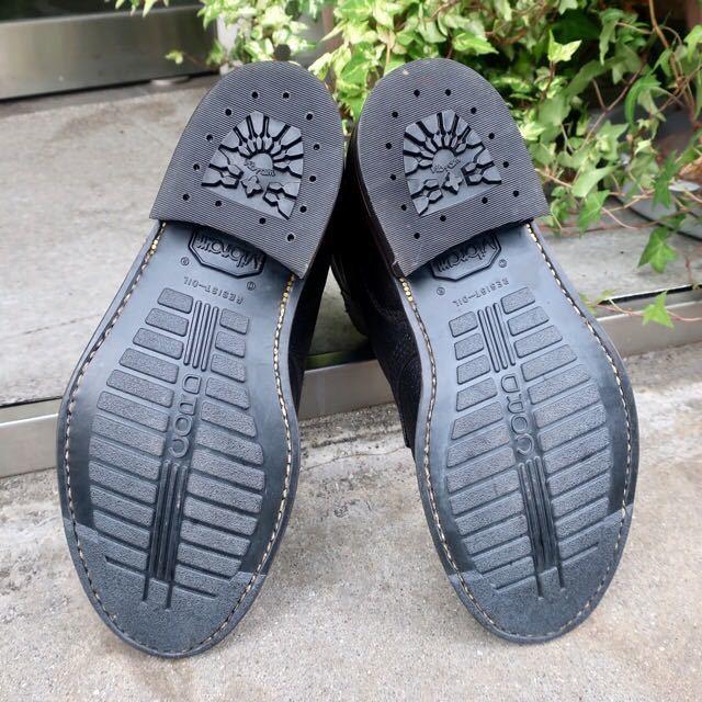[ブヒシューズ] カスタム/80' フランス軍/2バックルブーツ/約25.5cm/黒/革靴/ミリタリー/ミリタリーブーツ/ビンテージ/カスタムブーツ_画像7