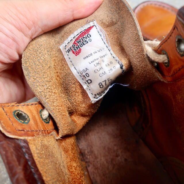 [ブヒシューズ] カスタム/Redwing/レッドウィング/US10D (約27.5-28cm)/茶/革靴/ワークブーツ/モックトゥ/カスタムブーツ/グッドイヤー製法_画像8