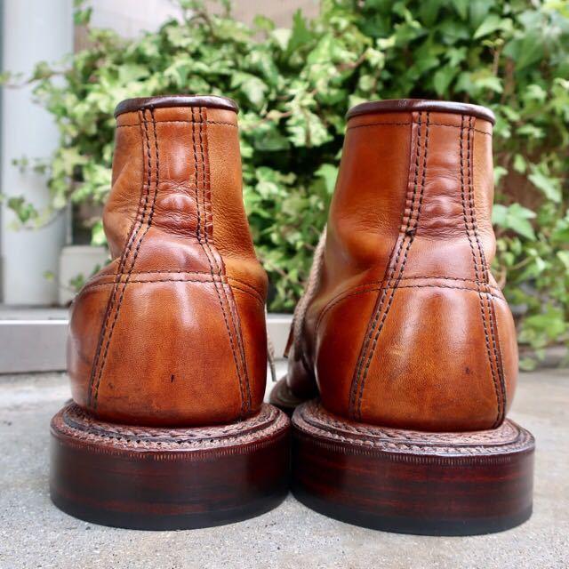 [ブヒシューズ] カスタム/Redwing/レッドウィング/US10D (約27.5-28cm)/茶/革靴/ワークブーツ/モックトゥ/カスタムブーツ/グッドイヤー製法_画像5