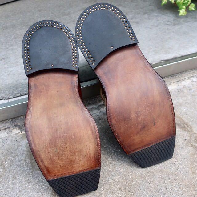 [ブヒシューズ] カスタム/Redwing/レッドウィング/US10D (約27.5-28cm)/茶/革靴/ワークブーツ/モックトゥ/カスタムブーツ/グッドイヤー製法_画像7