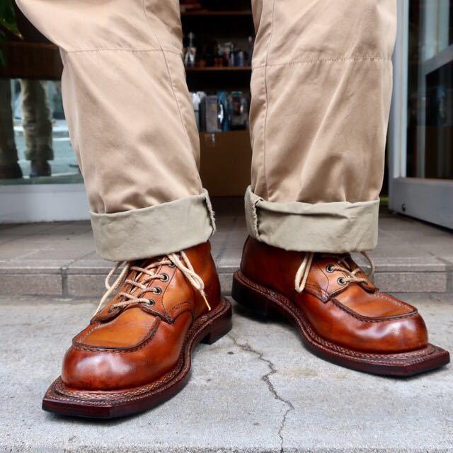[ブヒシューズ] カスタム/Redwing/レッドウィング/US10D (約27.5-28cm)/茶/革靴/ワークブーツ/モックトゥ/カスタムブーツ/グッドイヤー製法_画像10