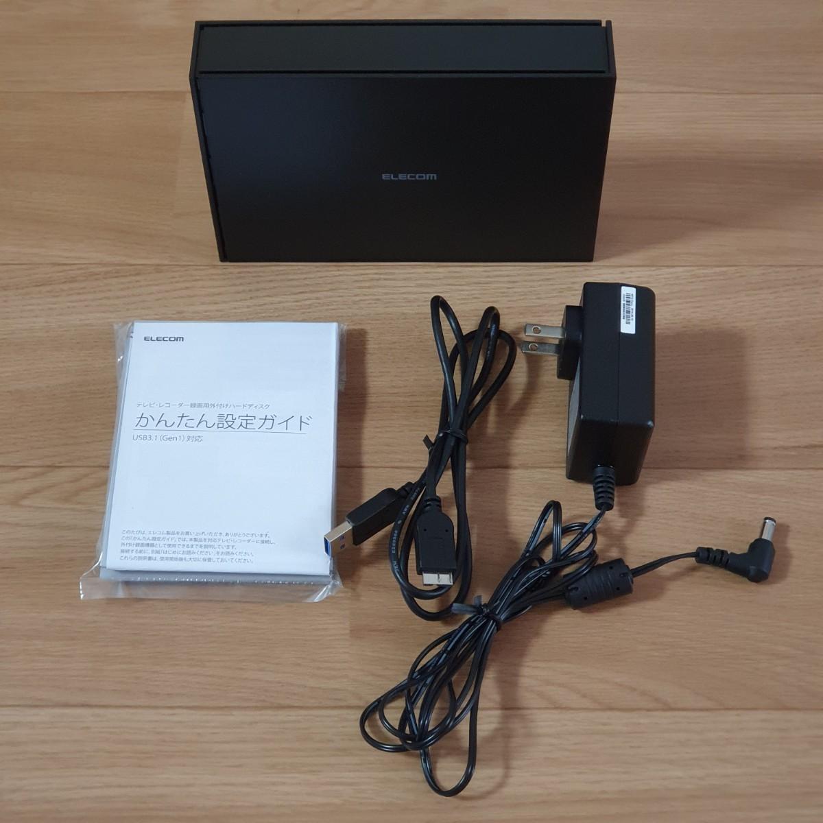 ELECOM ETV030UBK 3TB 外付けハードディスク TVシリーズ