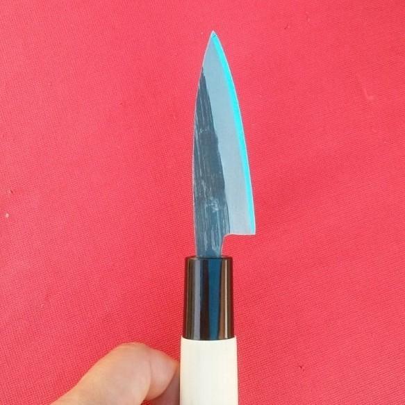 小魚料理に大活躍♪驚異の切れ味!!【新品】極小出刃包丁 2寸5分 青紙鋼 手打