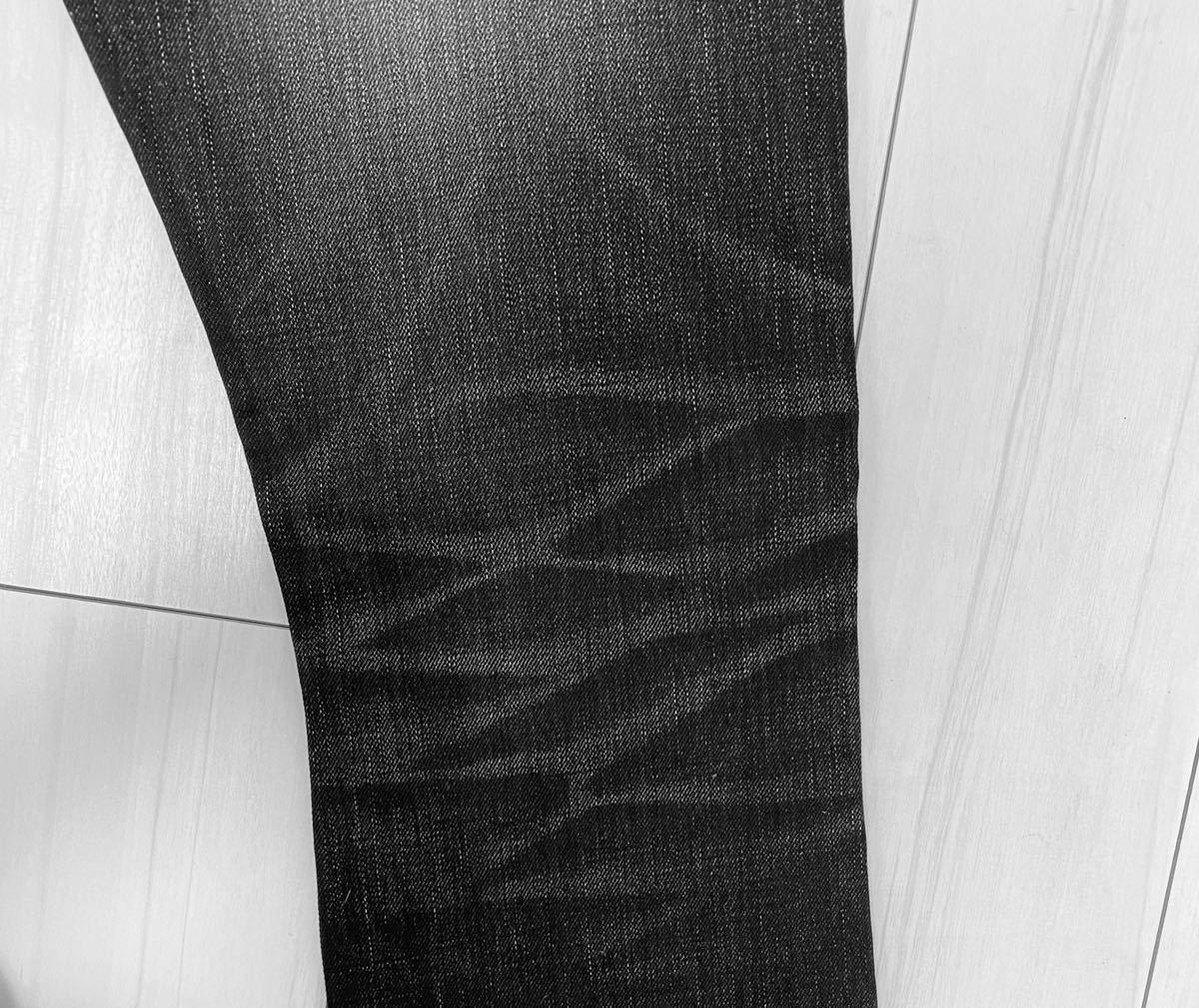 【名作】SHELLAC クラッシュデニムパンツ 46 シェラック ダメージデニム ブラックデニム黒デニム 5351wjkroaroenstrumバックボーン清春着