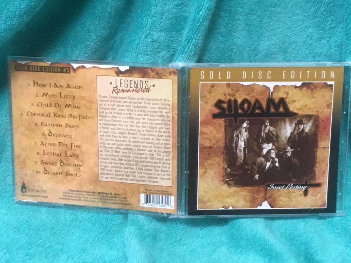 SILOAM/SWEET DESTINY 中古 輸入盤 新品同様 サイロアム メロハー メタル Stryper Guardian Holy Soldier Skid Row_画像1
