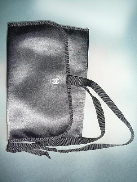CHANEL★シャネル メイク ポーチ make★化粧 バック bag コスメ ケース ブラシ 黒 ブラック cosme トラベル 旅 プロ 婦 泊 筆 毛 ブランド