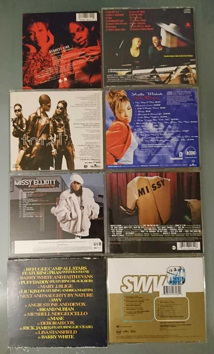 CD 8枚セット★R&B HIP HOP★ノートリアス snoop スヌープ Aaliyah missy faith JAY ジェイ Busta daddy DJ リル LIL キム Funkmaster rap
