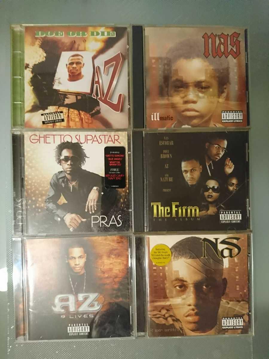 CD 6枚 セット★hip hop★NAS AZ フォクシー FOXY PRAS FIRM DJ プレミア Lauryn mobb dre ナズ Wyclef ドレー ローリン ラッパー 東 rap