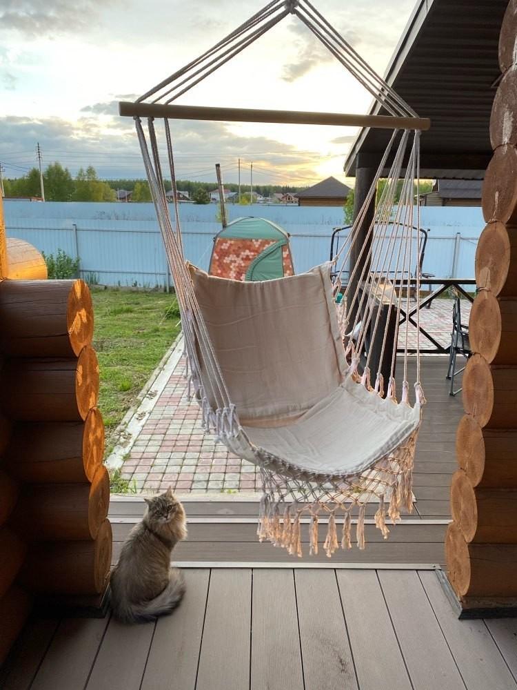 ★お買い得★北欧スタイル デラックス ハンモック 屋外 屋内 庭 寝室 吊り椅子 ハンギングチェア スイング 子供 ノルディック チェア_画像7