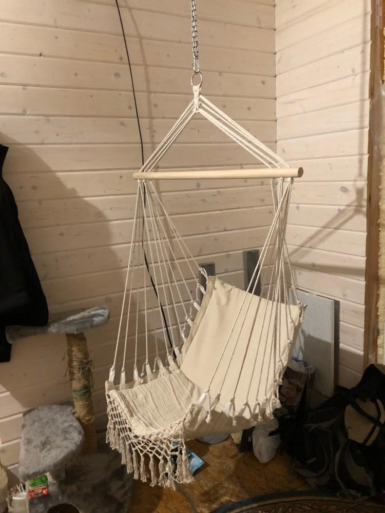 ★お買い得★北欧スタイル デラックス ハンモック 屋外 屋内 庭 寝室 吊り椅子 ハンギングチェア スイング 子供 ノルディック チェア_画像9