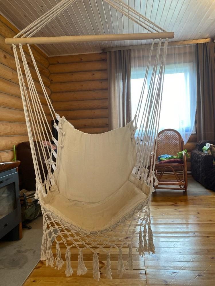 ★お買い得★北欧スタイル デラックス ハンモック 屋外 屋内 庭 寝室 吊り椅子 ハンギングチェア スイング 子供 ノルディック チェア_画像8