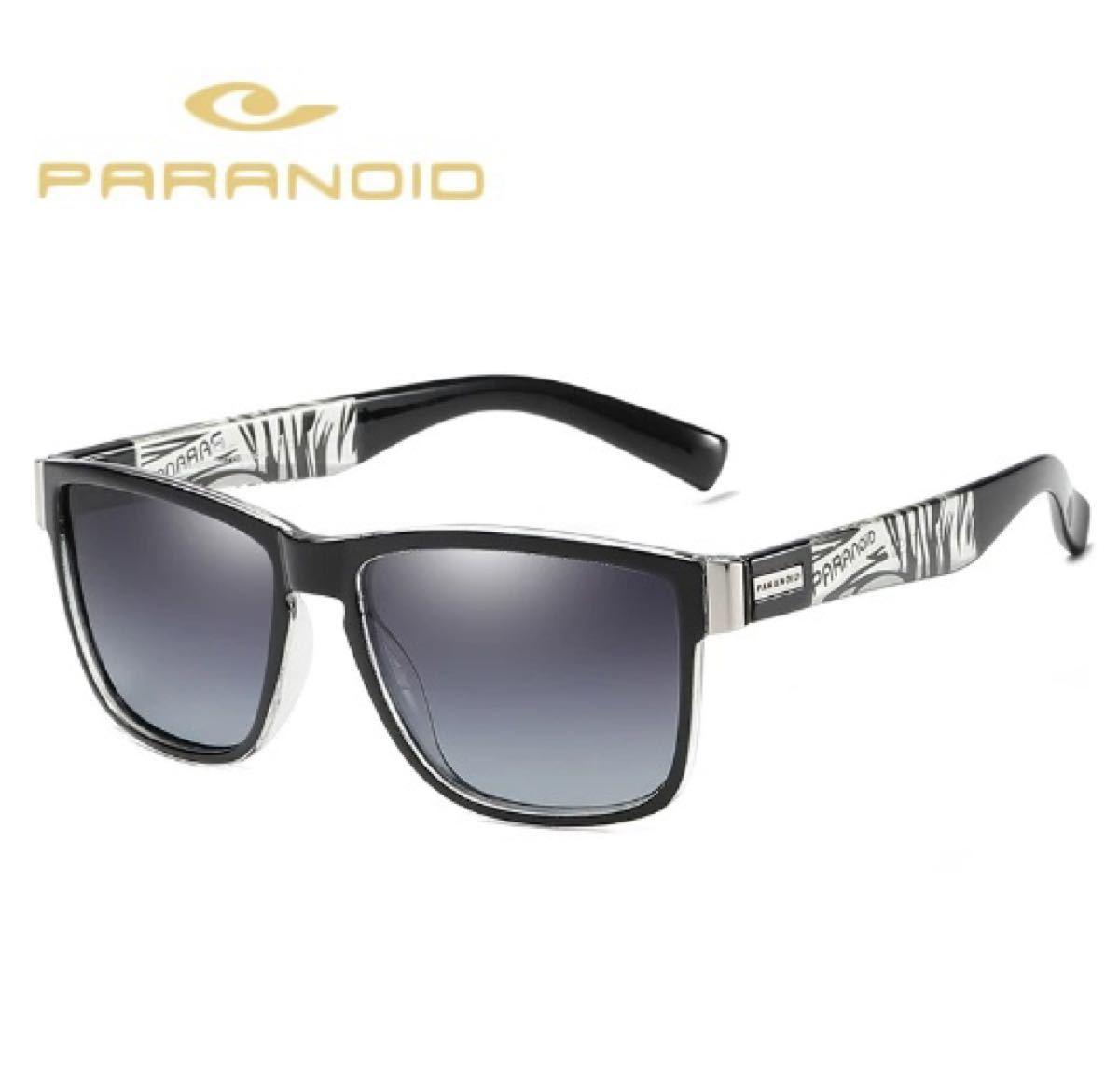 新品 送料込み PARANOID ブルーミラーレンズ偏光サングラス 男女兼用