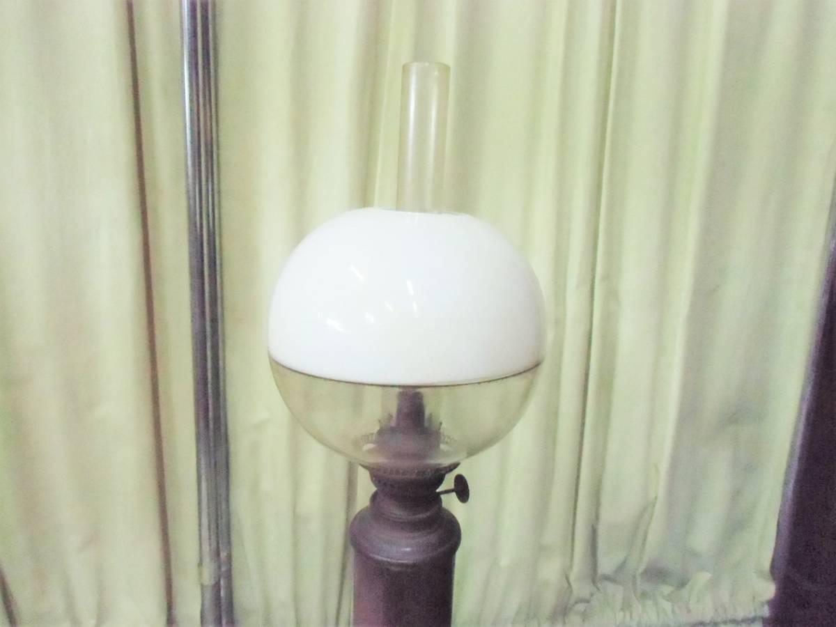 ▲モ-685 アルコールランプ 明治時代 中古 照明器 オイルランプ アンティーク ※寸法は画像下参照_画像2