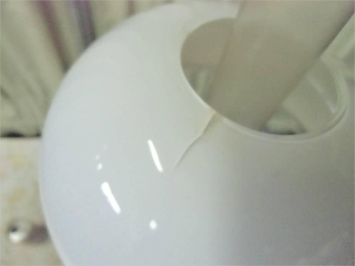 ▲モ-685 アルコールランプ 明治時代 中古 照明器 オイルランプ アンティーク ※寸法は画像下参照_笠部分:キズあり
