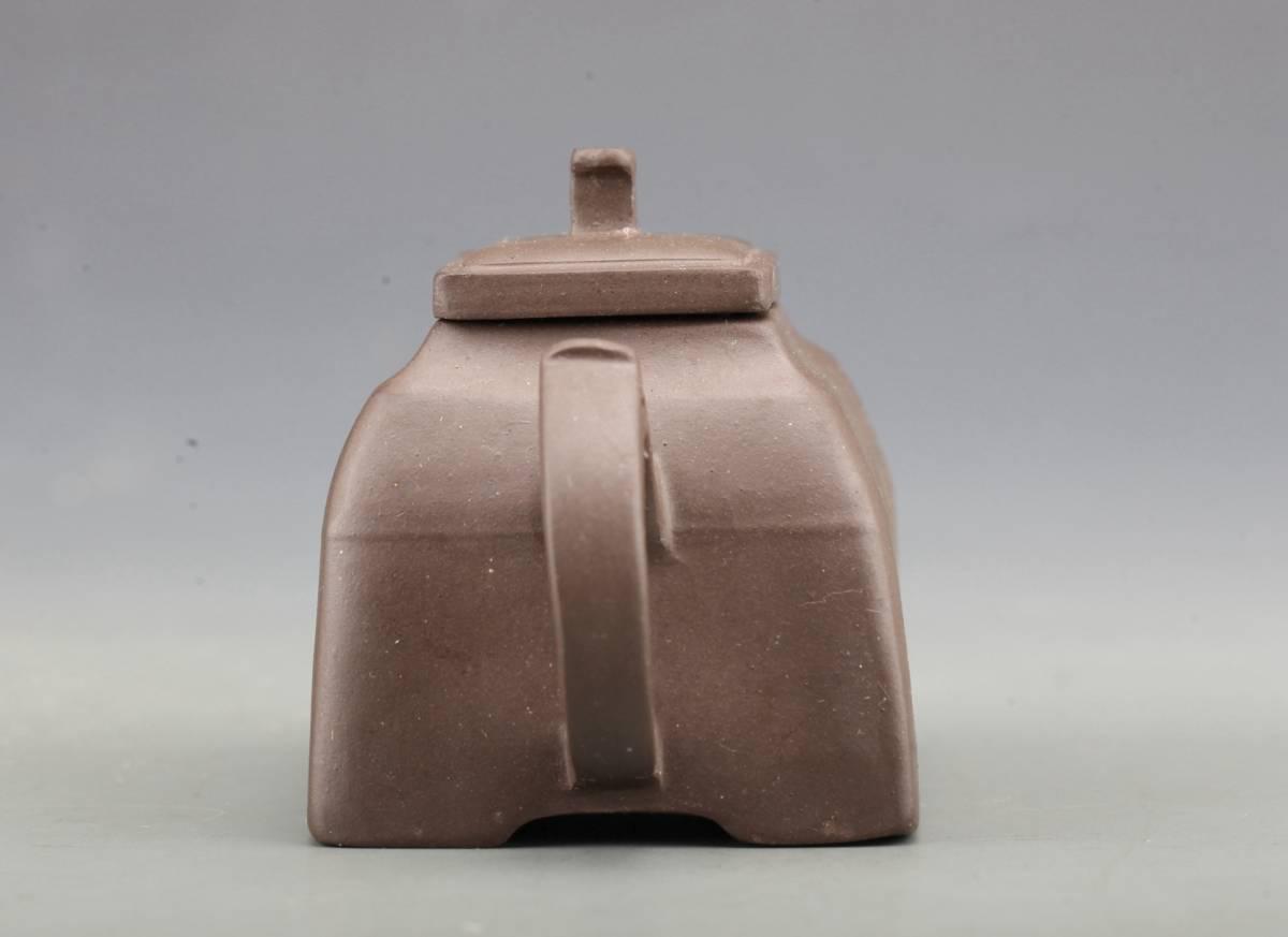 中国古玩 唐物 在銘 漢詩彫 朱泥 紫泥 茶壷 急須 煎茶道具_画像4