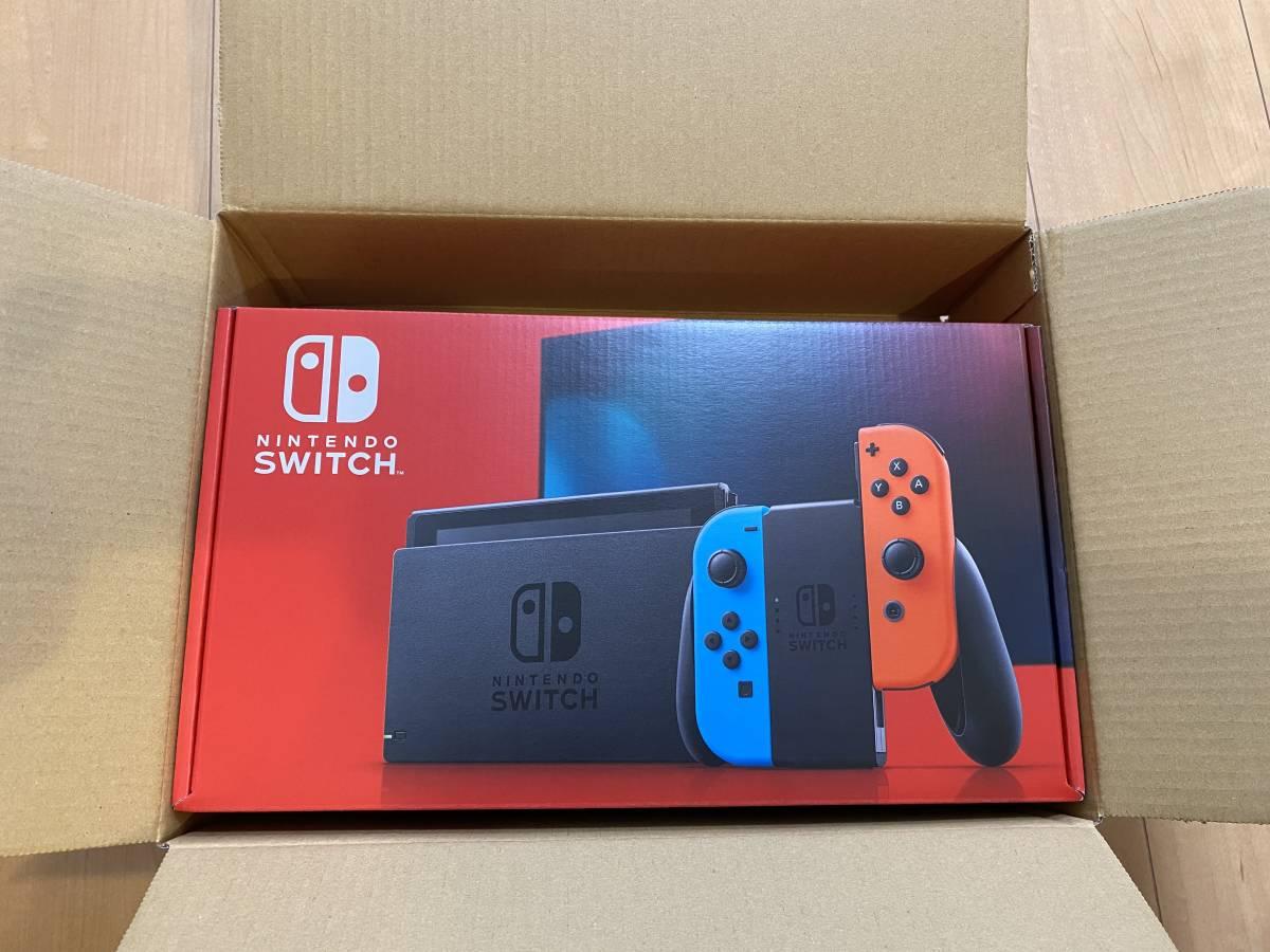 Nintendo Switch Joy-Con(L)ネオンブルー/(R)ネオンレッド バッテリー持続時間が長くなった新モデル [Nintendo Switch本体]_画像1