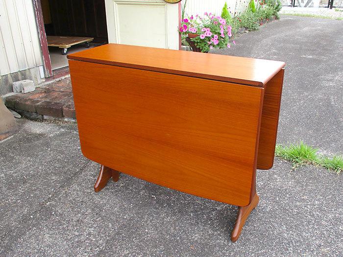 G-plan ドロップリーフテーブル イギリス製アンティーク・ヴィンテージ家具 1970~1980年代_画像2