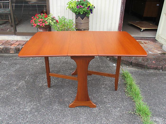 G-plan ドロップリーフテーブル イギリス製アンティーク・ヴィンテージ家具 1970~1980年代_画像1
