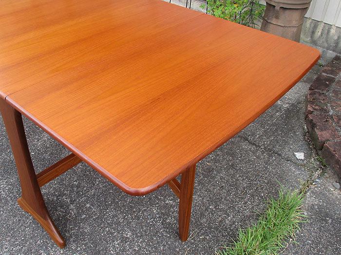 G-plan ドロップリーフテーブル イギリス製アンティーク・ヴィンテージ家具 1970~1980年代_画像4