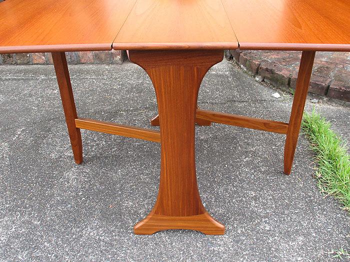 G-plan ドロップリーフテーブル イギリス製アンティーク・ヴィンテージ家具 1970~1980年代_画像5