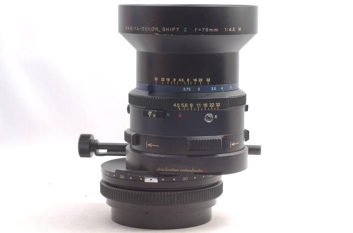 ★ 現状品 ★ 希少 ★ マミヤ セコール シフト Mamiya-Sekor Shift Z 75mm f4.5 W RZ67 中判カメラ用 単焦点 レンズ_画像8