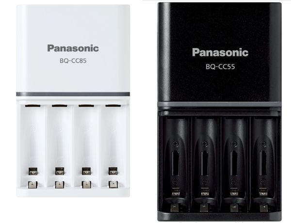 PANASONICSIZE3,4 ENELOOP,EVOLTA QUICK BATTERY CHARGER BQ-CC85 WHITE+BLACK