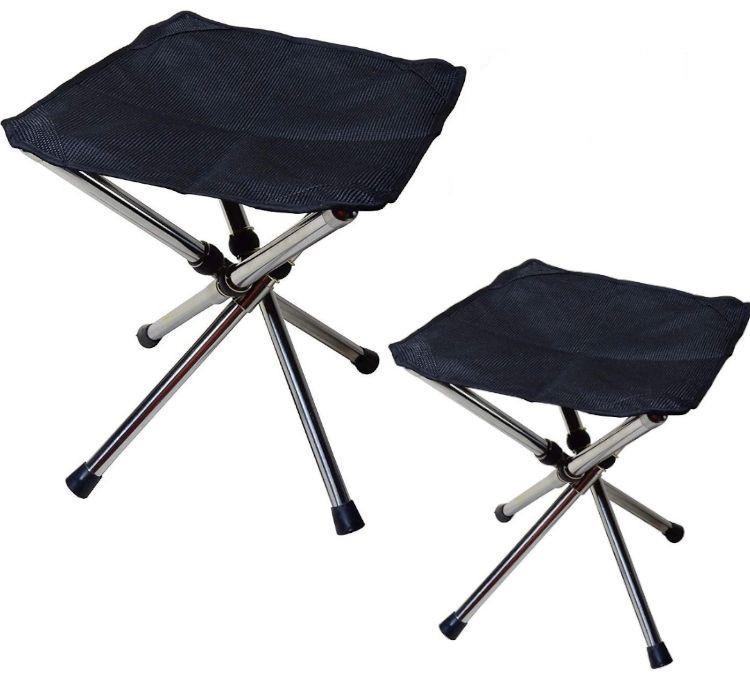 【2個組み】 折りたたみ 椅子 コンパクトチェア 収納 ポーチ レジャー アウトドア