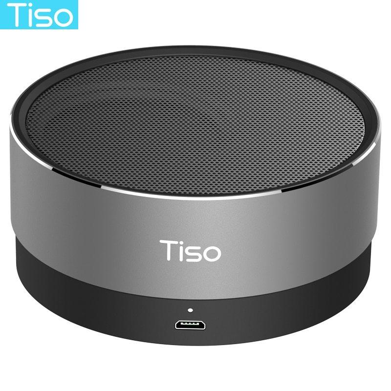 Tiso T10 bluetooth スピーカー金属ミニポータブルワイヤレス 10-15 時間プレイタイム 5 ワットスピーカ_画像1