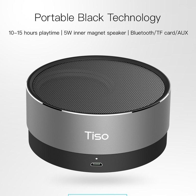 Tiso T10 bluetooth スピーカー金属ミニポータブルワイヤレス 10-15 時間プレイタイム 5 ワットスピーカ_画像2