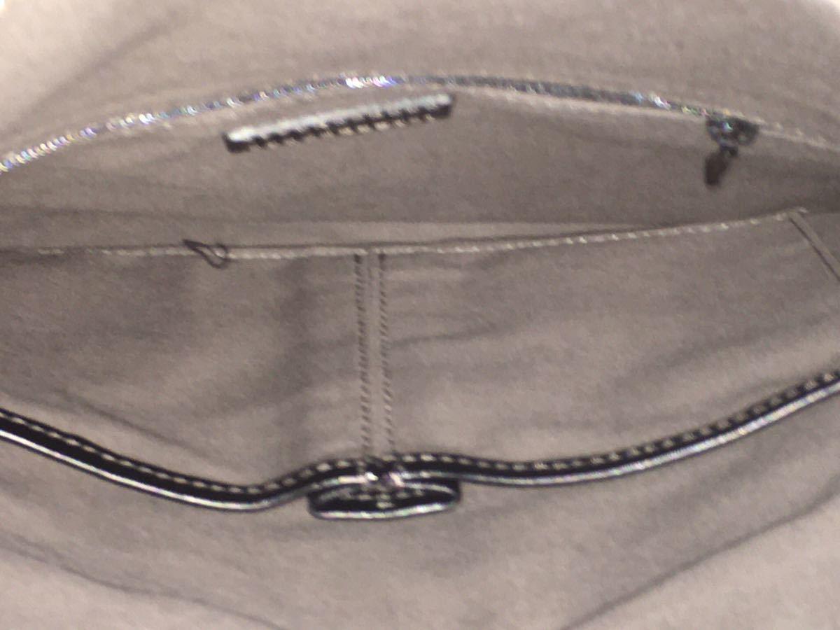 美品 カルバンクライン CK レザー クラッチバッグ ショルダーパック セカンドバック ブラック_画像6