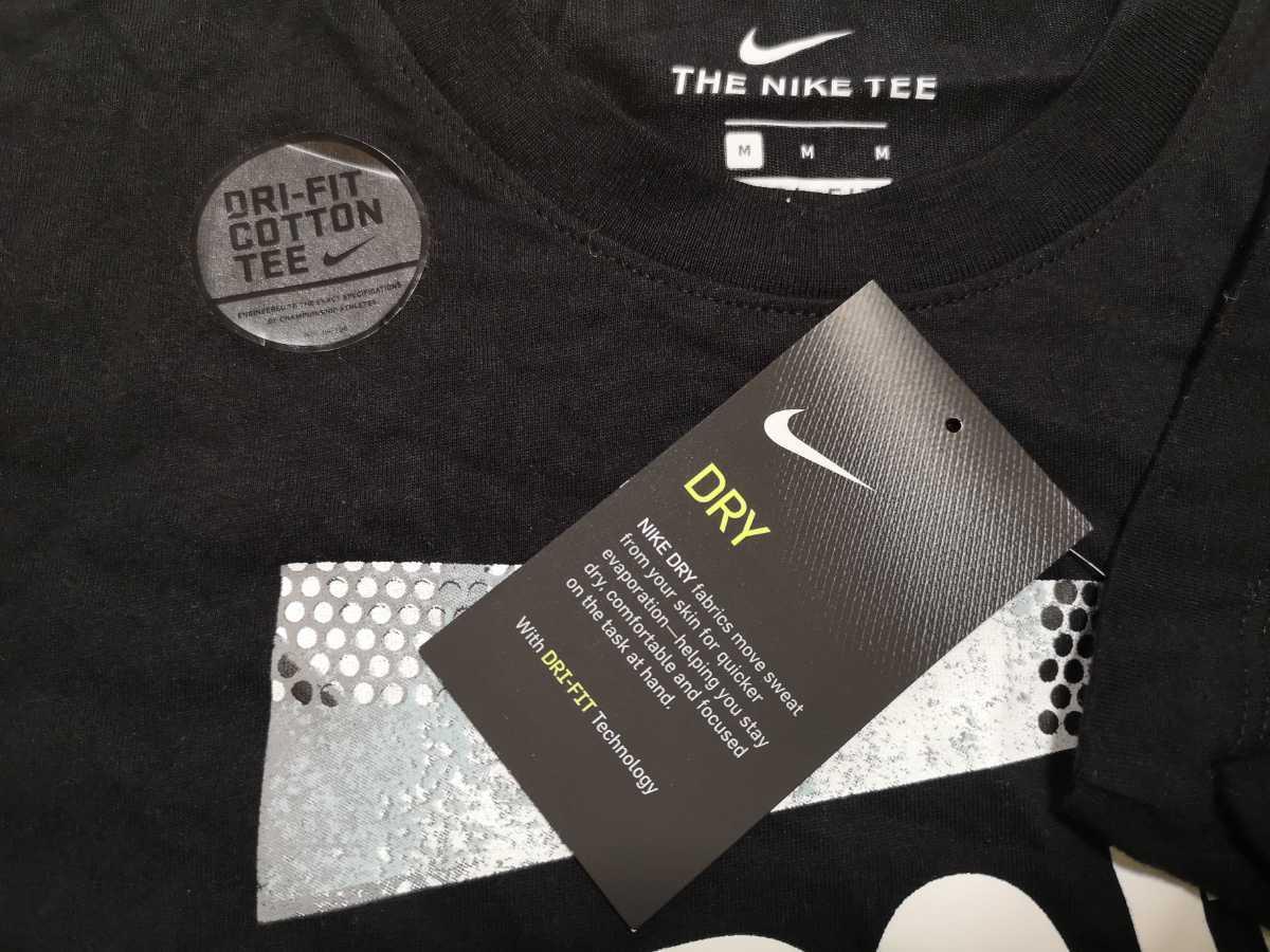 Mサイズ NIKE Tシャツ ハーフパンツ 上下セットアップ 新品未使用 ナイキ JUST DO IT 黒ブラック グレー ショートパンツ DRY 半袖 ショーツ_画像4