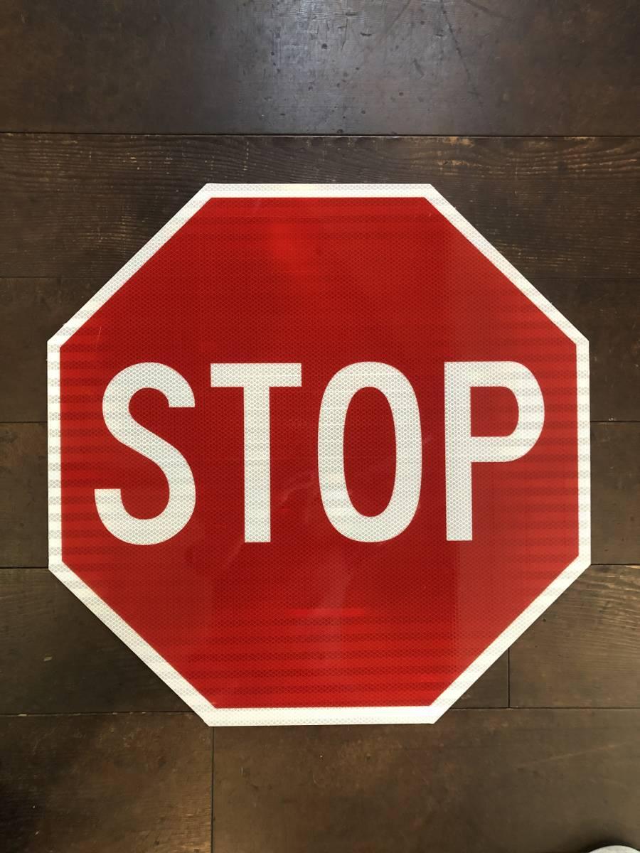 ★新品★アメリカ 道路標識 ビッグサイズ STOP ストップ★SC-4★61cm×61cm ストリートサイン ロードサイン ガレージ 世田谷ベース 看板_画像1