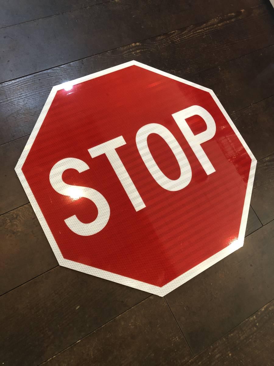 ★新品★アメリカ 道路標識 ビッグサイズ STOP ストップ★SC-4★61cm×61cm ストリートサイン ロードサイン ガレージ 世田谷ベース 看板_画像4