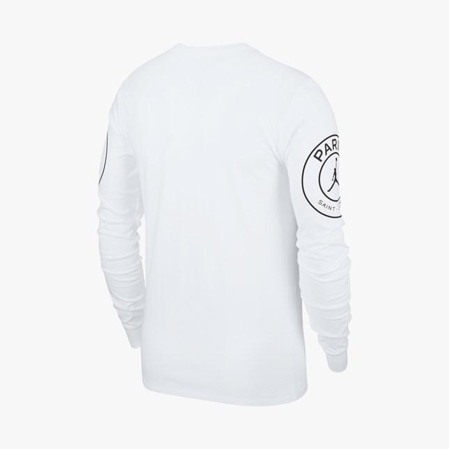 ★新品 XXL 2XL NIKE AIR JORDAN×PSG WHITE ロングスリーブ Tシャツ ナイキ ジョーダン パリサンジェルマン PARIS SAINT GERMAIN