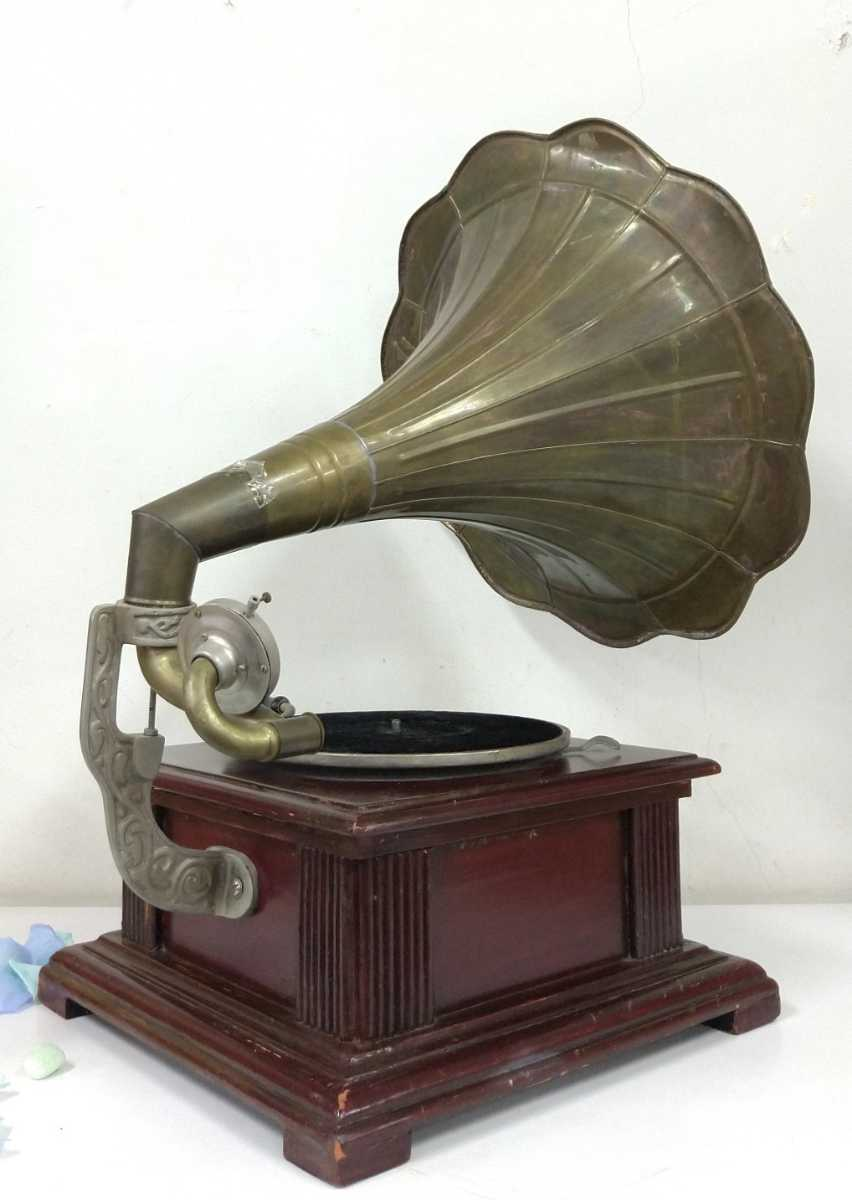 ○oレア!! ラッパ * His Master's Voice * 蓄音器 o○_画像4