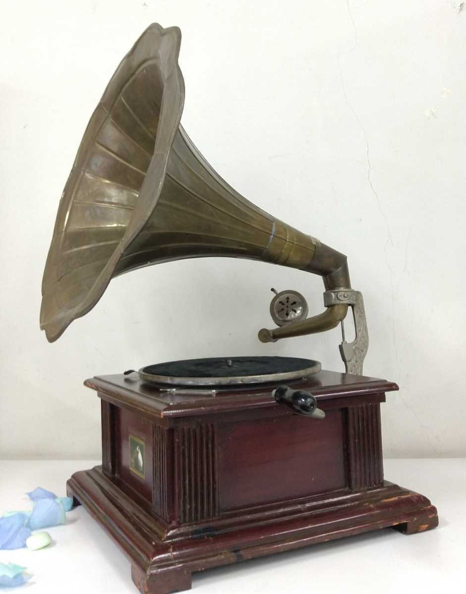 ○oレア!! ラッパ * His Master's Voice * 蓄音器 o○_画像2