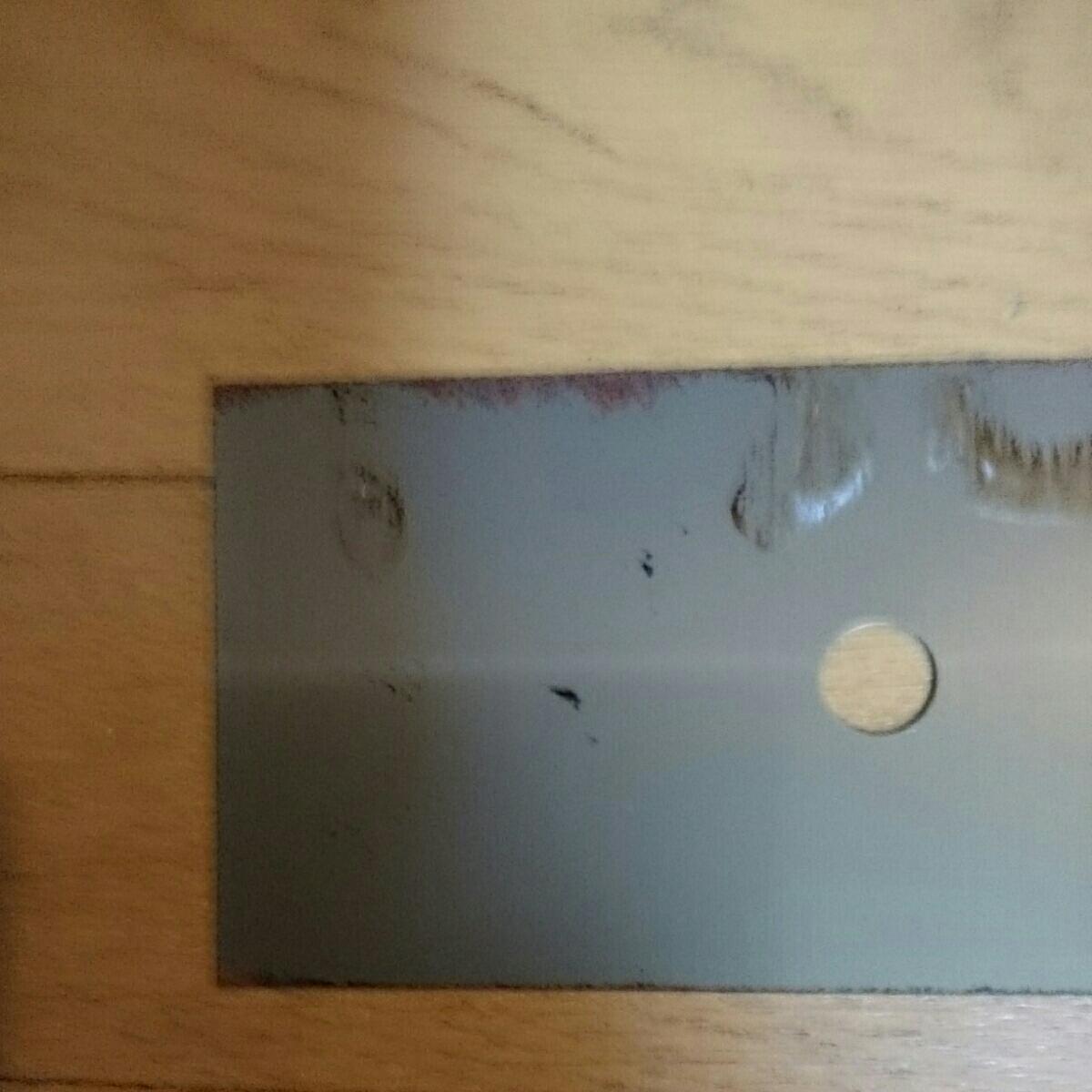 お値打ち鋼材 切板 平鋼 鋼板 鉄板 フラットバー 鉄 補強材 ストッパー 穴明き 薄板t0.5㎜ 長さ約235×75㎜ 新品 作業台 DlY等々に_画像5