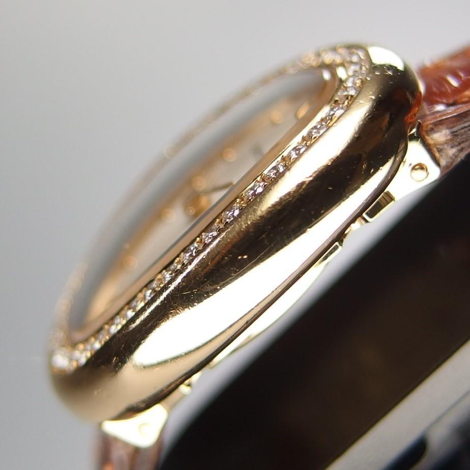 【超希少 純正ダイヤベゼル YGケース コンプリート済】Cartier Mini BAIGNOIRE ミニ ベニュワール QZ レディース 腕時計 修理証明書付_画像4