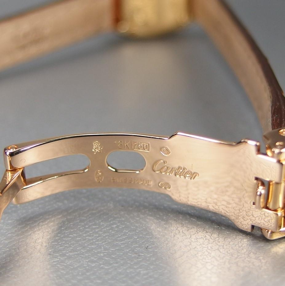 【超希少 純正ダイヤベゼル YGケース コンプリート済】Cartier Mini BAIGNOIRE ミニ ベニュワール QZ レディース 腕時計 修理証明書付_純正Dバックル 内側刻印あり