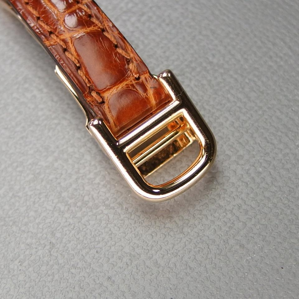 【超希少 純正ダイヤベゼル YGケース コンプリート済】Cartier Mini BAIGNOIRE ミニ ベニュワール QZ レディース 腕時計 修理証明書付_純正Dバックル