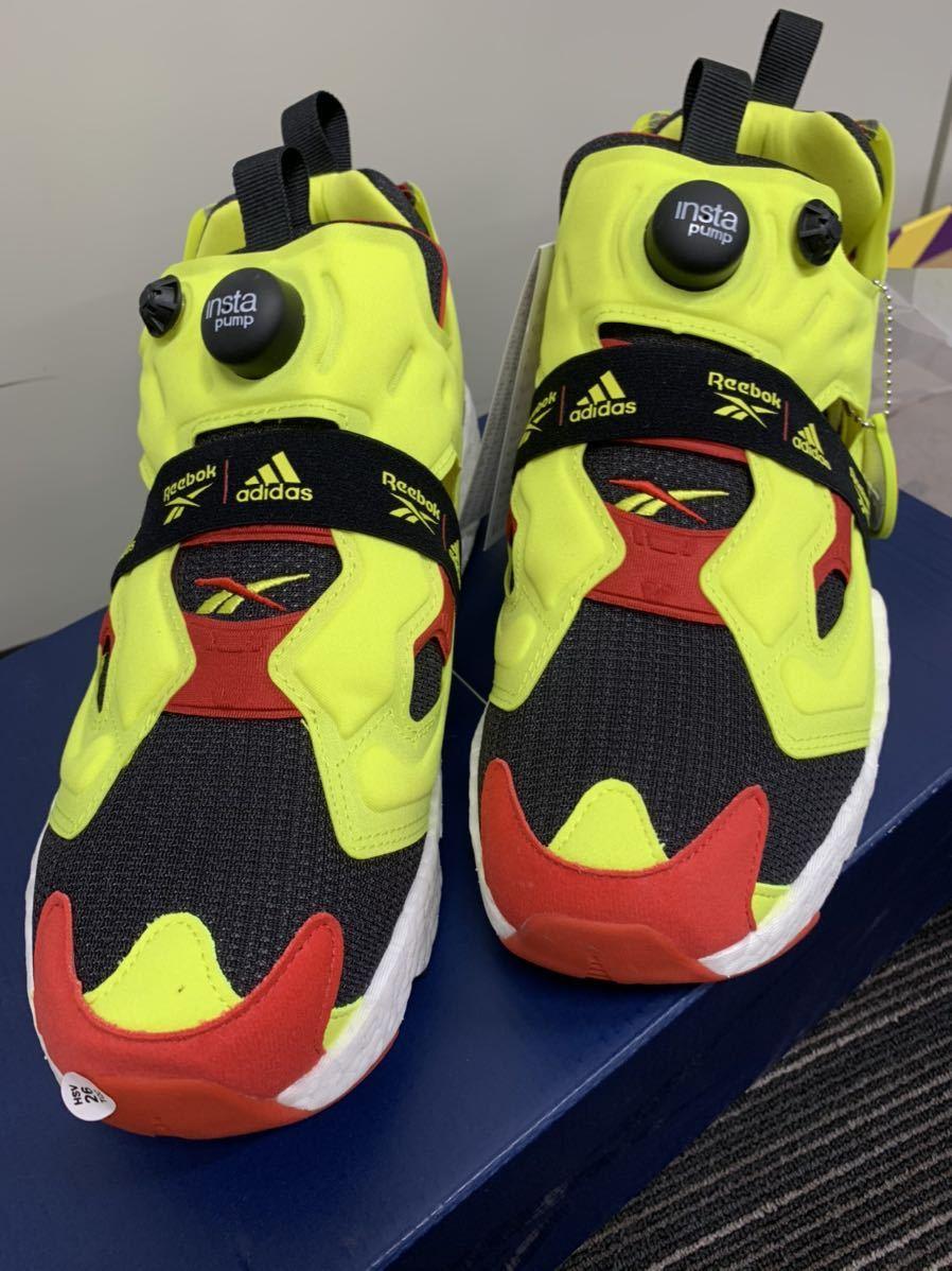 1円~ 新品 Reebok adidas Insta Pump fury boost 27cm 定価26,400円 シトロン pumpfury US9 ポンプフューリー citron ブースト og_画像2