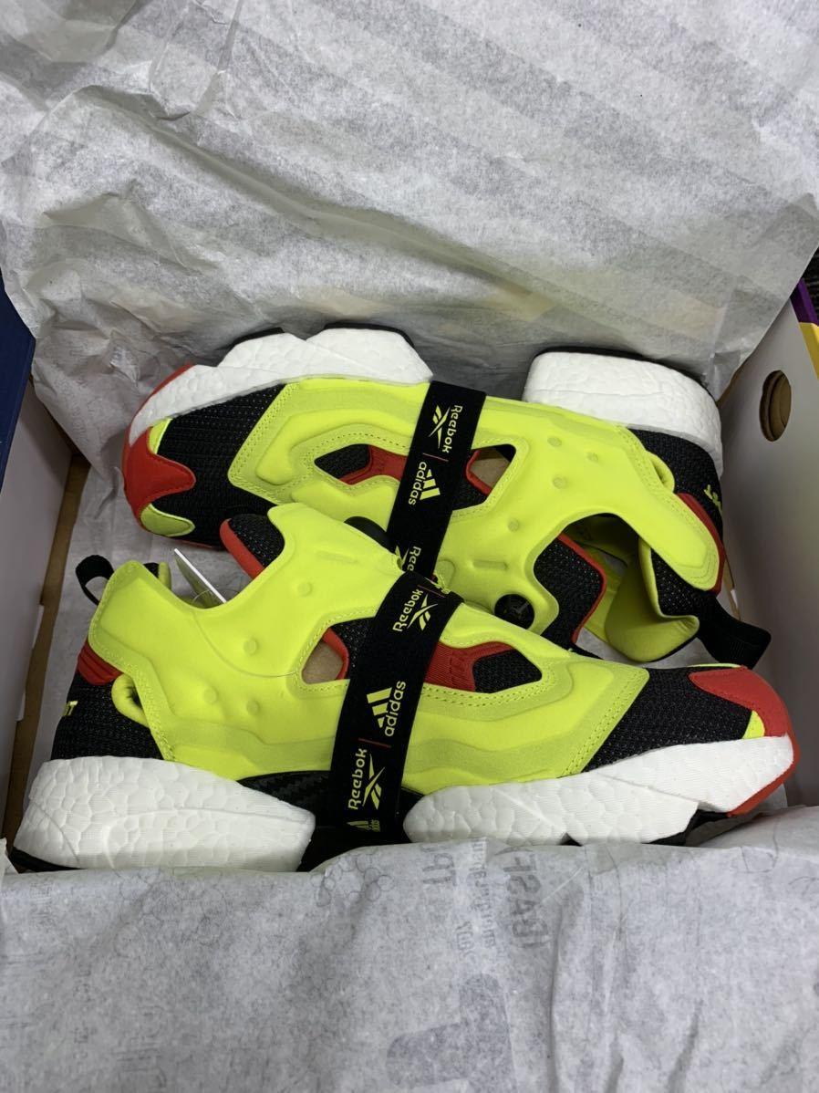 1円~ 新品 Reebok adidas Insta Pump fury boost 27cm 定価26,400円 シトロン pumpfury US9 ポンプフューリー citron ブースト og_画像8