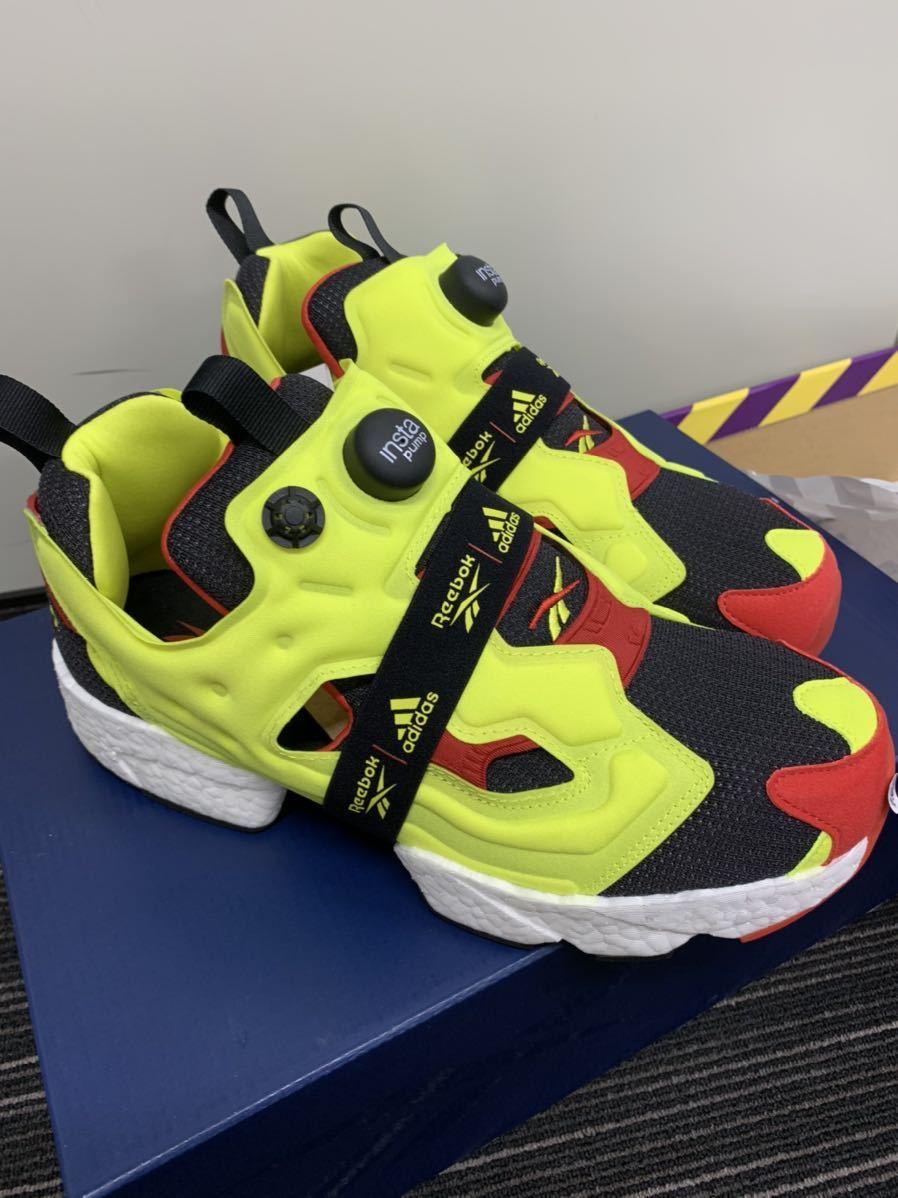 1円~ 新品 Reebok adidas Insta Pump fury boost 27cm 定価26,400円 シトロン pumpfury US9 ポンプフューリー citron ブースト og_画像3
