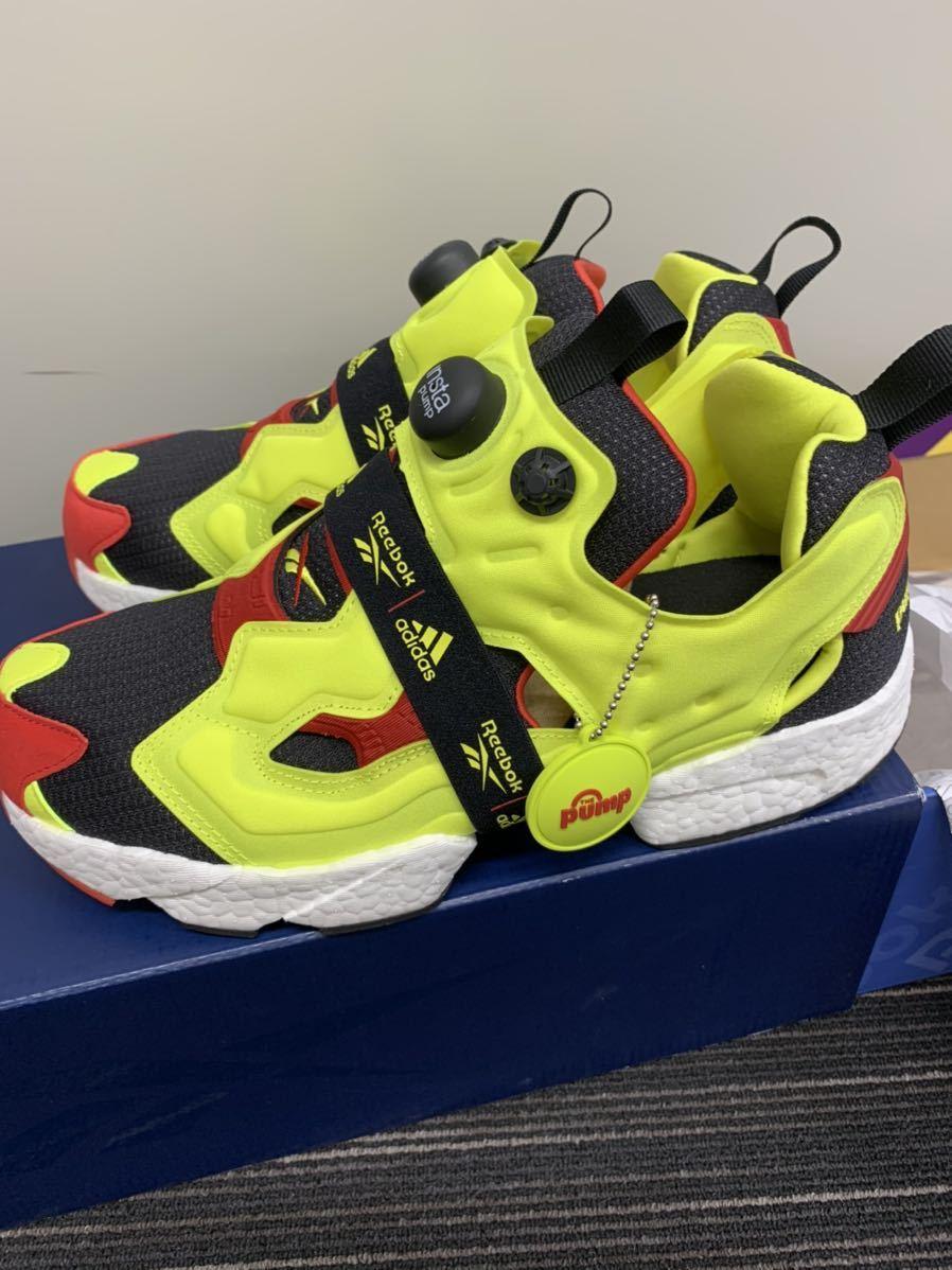 1円~ 新品 Reebok adidas Insta Pump fury boost 27cm 定価26,400円 シトロン pumpfury US9 ポンプフューリー citron ブースト og_画像6