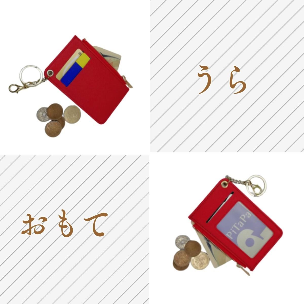 コインケース付きパスケース 薄い軽い 定期券 ポイントカード
