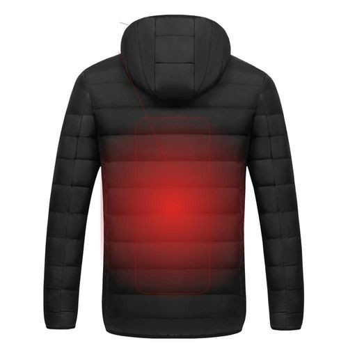 ◆新品◆最安値下げ 電熱ダウンジャケット 発熱 コート ヒートベスト ジャケット 防寒 USB 温度調節 スキー 登山 釣り_画像5
