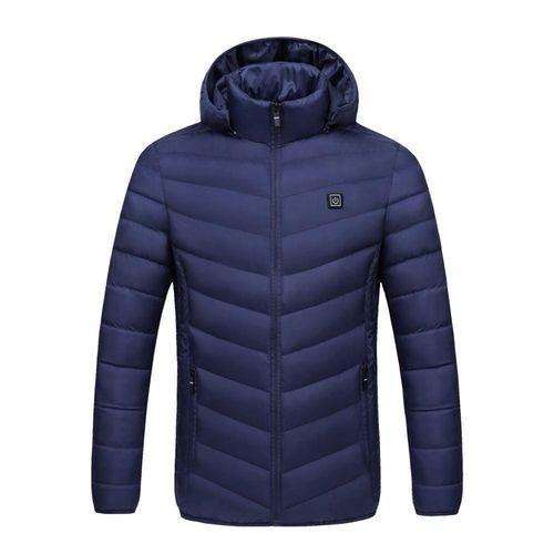 ◆新品◆最安値下げ 電熱ダウンジャケット 発熱 コート ヒートベスト ジャケット 防寒 USB 温度調節 スキー 登山 釣り_画像6
